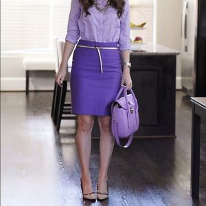J Crew No. 2 Pencil Skirt in Purple